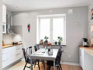 简洁自然北欧餐厅窗台设计