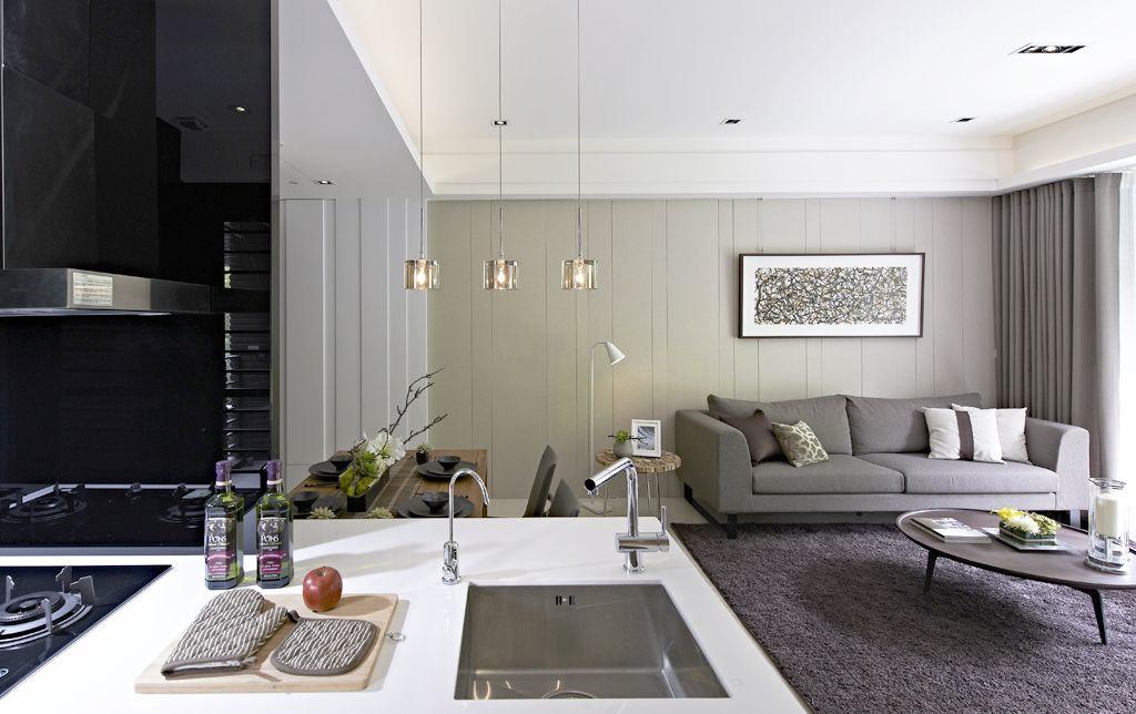 后现代风格客厅沙发摆放效果图