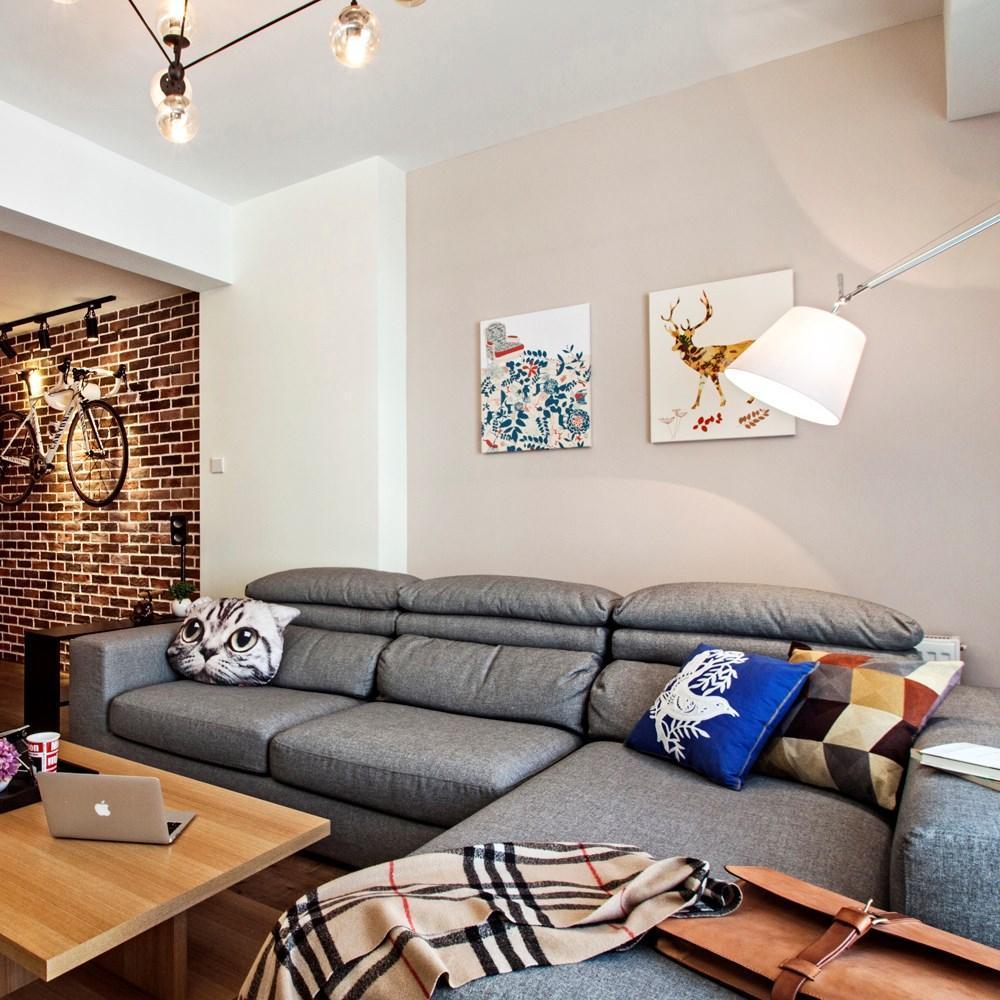 休闲北欧风格客厅沙发装饰效果图