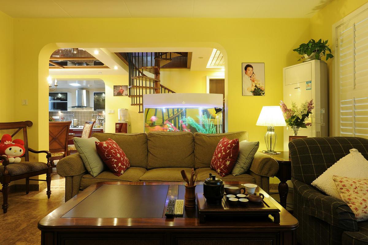 美式乡村田园风 客厅沙发效果图