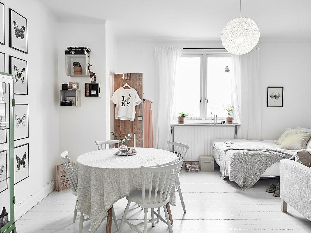 白色北欧风单身公寓设计