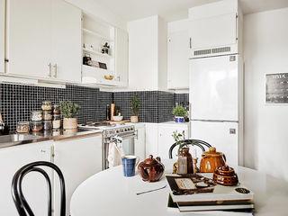 黑白时尚北欧厨房效果图