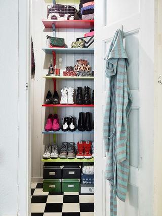 簡潔北歐設計鞋柜裝飾