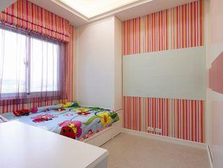 时尚简约竖条纹儿童房设计