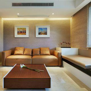 优雅现代简约客厅双人沙发装饰图