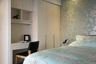 精致现代卧室印花墙纸装饰