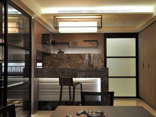 奢华美式大理石吧台设计图