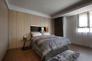 原木现代卧室灰色家纺效果图