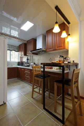 现代美式风格厨房砖砌橱柜装饰