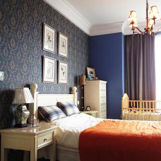古典美式卧室背景墙设计