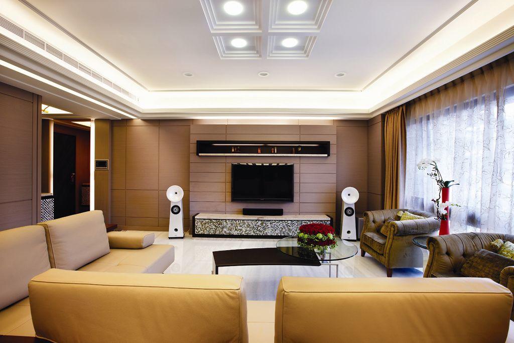 时尚休闲美式客厅 电视背景墙设计