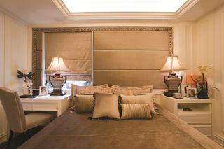 新古典主义风格卧室床头窗户设计
