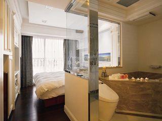 简欧浴室玻璃隔断设计