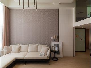 简约风客厅沙发背景墙壁纸设计