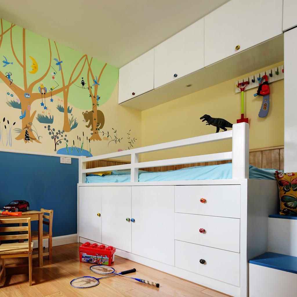 清新可爱美式儿童房效果图