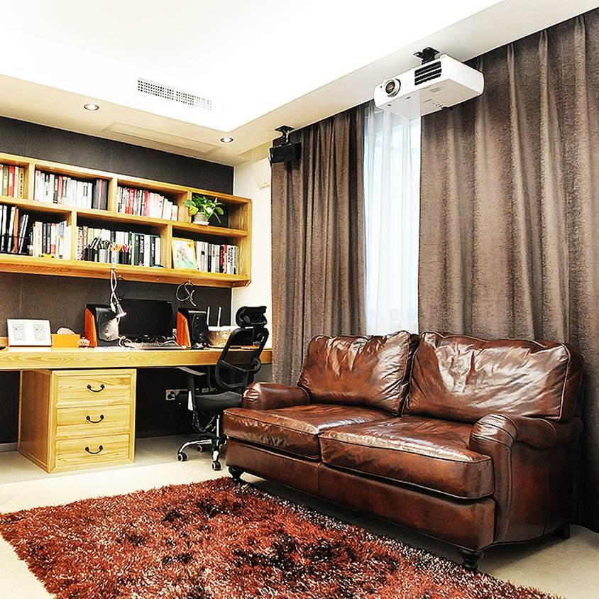 现代家居书房双人沙发装饰