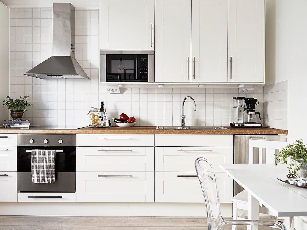 简洁北欧风厨房橱柜装饰图