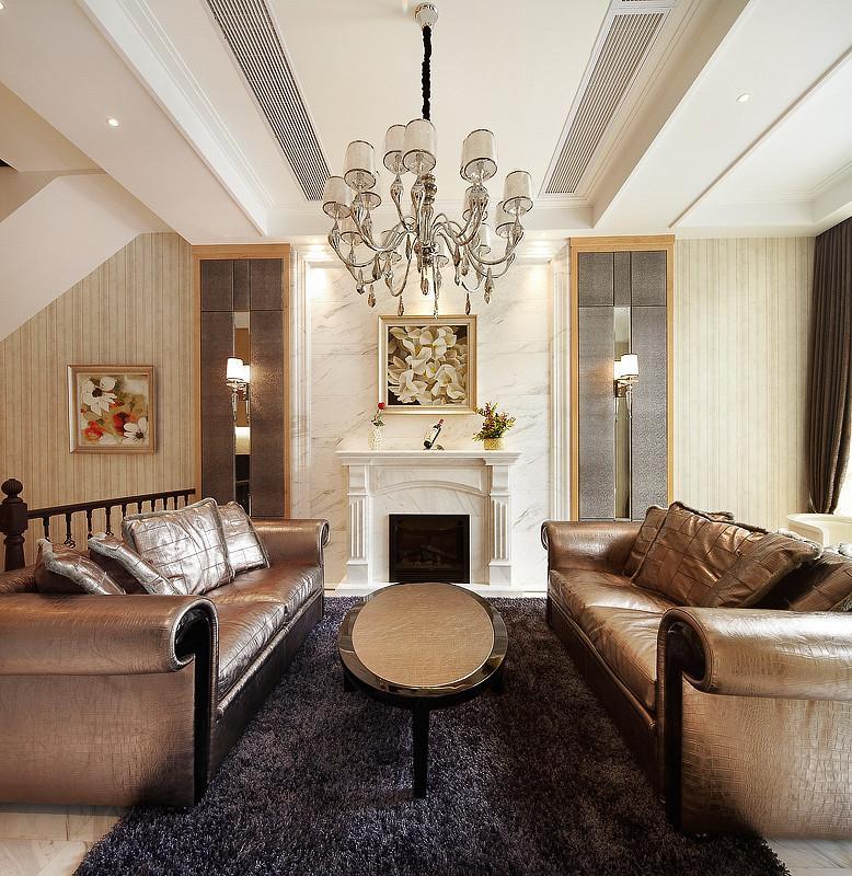 新古典风格客厅地毯装饰图