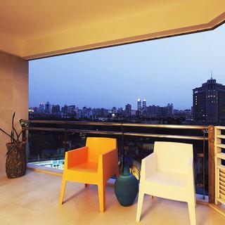 简约家居阳台休闲椅装饰