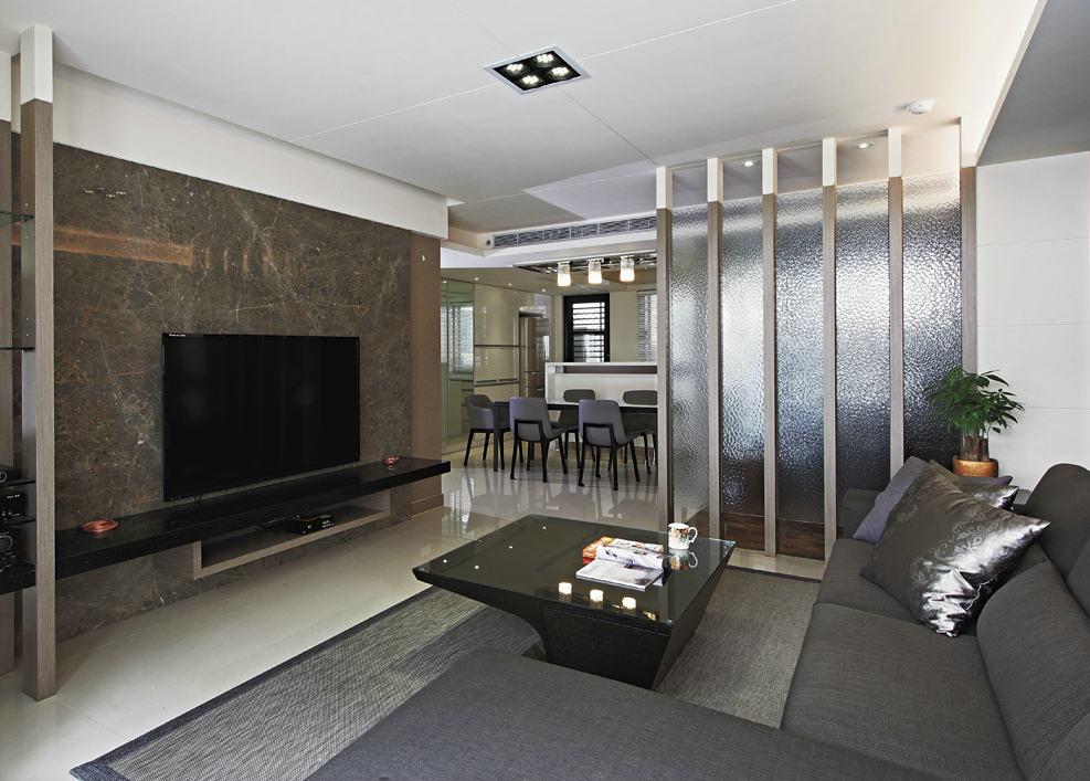 素雅现代客厅隔断设计
