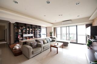 现代时尚装修 128平三室两厅效果图
