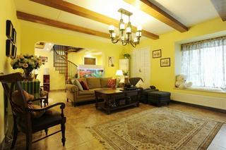 家装复式美式田园风格装潢美图欣赏
