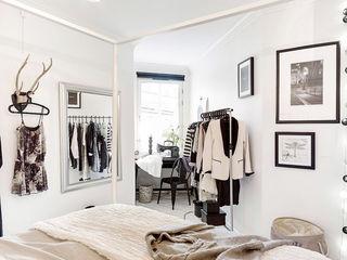 北欧文艺范卧室简易衣架装饰