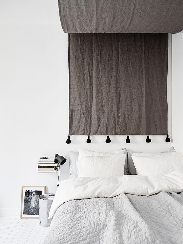 复古北欧风卧室 窗帘效果图