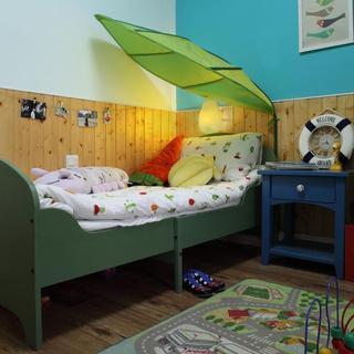 大自然清新混搭儿童房局部装修效果图