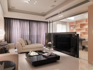 現代時尚家居玻璃隔斷設計