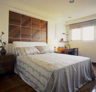 简欧田园风卧室背景墙设计