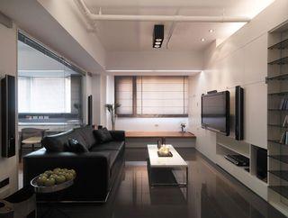 素雅现代简约小户型客厅装修设计