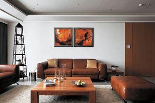 复古美式客厅 沙发照片墙欣赏