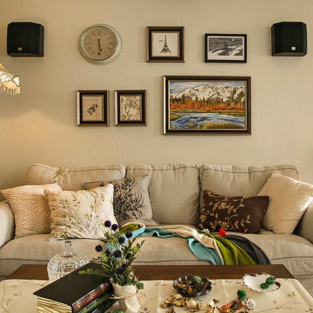 文艺混搭客厅装饰画欣赏
