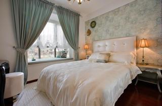 唯美精致混搭法式宫廷风卧室窗帘装饰效果图