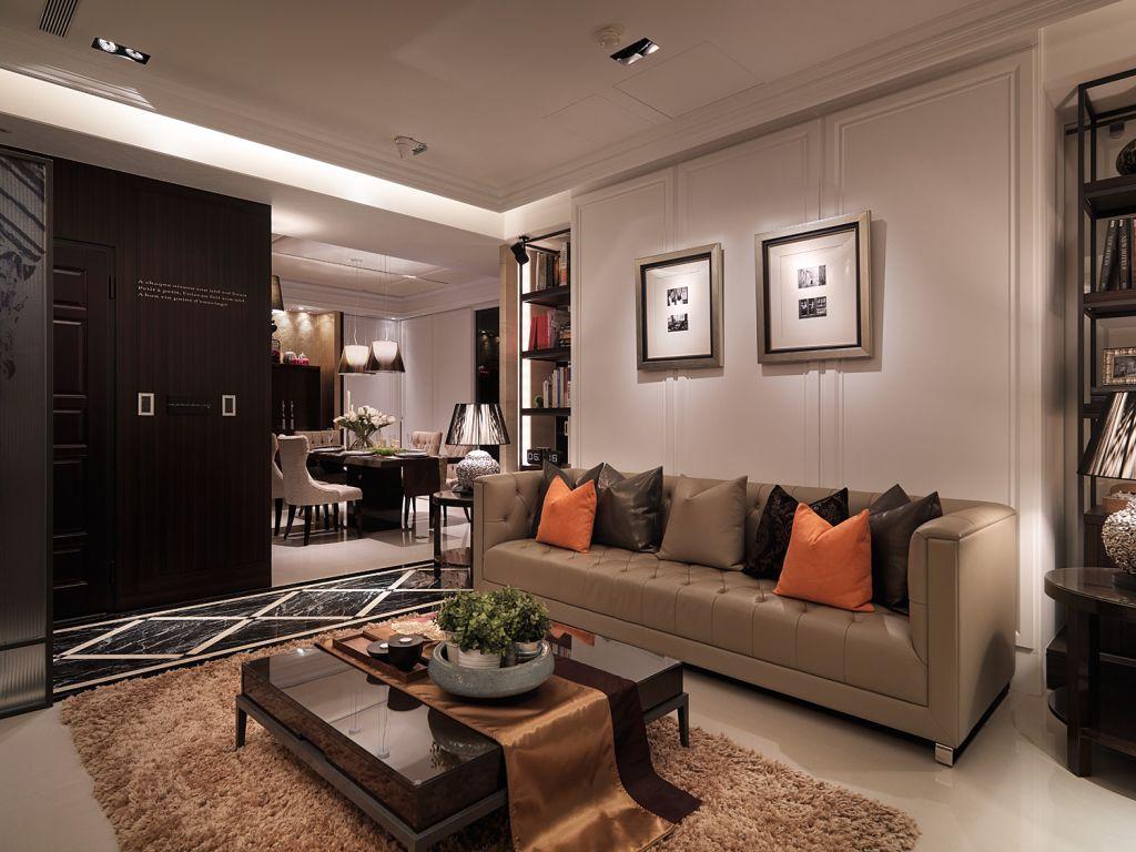 时尚后现代风家居客厅局部装饰效果图