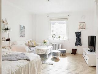 白色北欧风情小户型家装图片