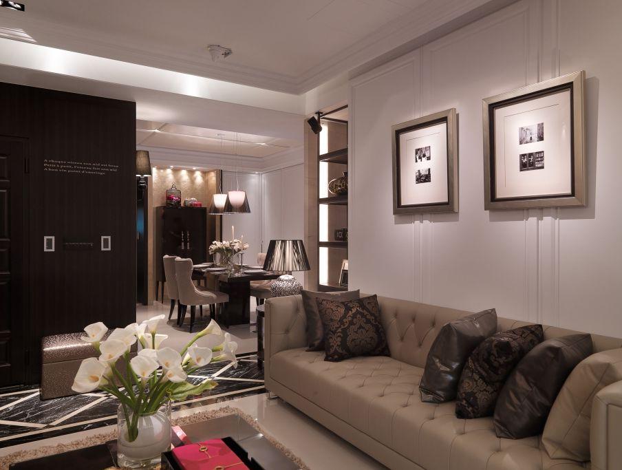 时尚后现代设计风格客厅挂画装饰效果图