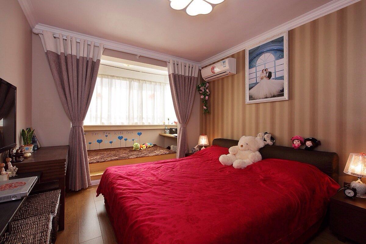 宜家风情婚房卧室装修图