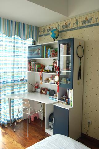 地中海混搭儿童房书柜设计