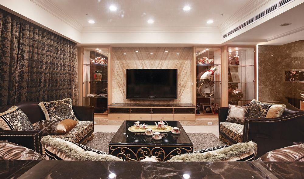 丰裕华丽欧式风格四室两厅设计装修图片