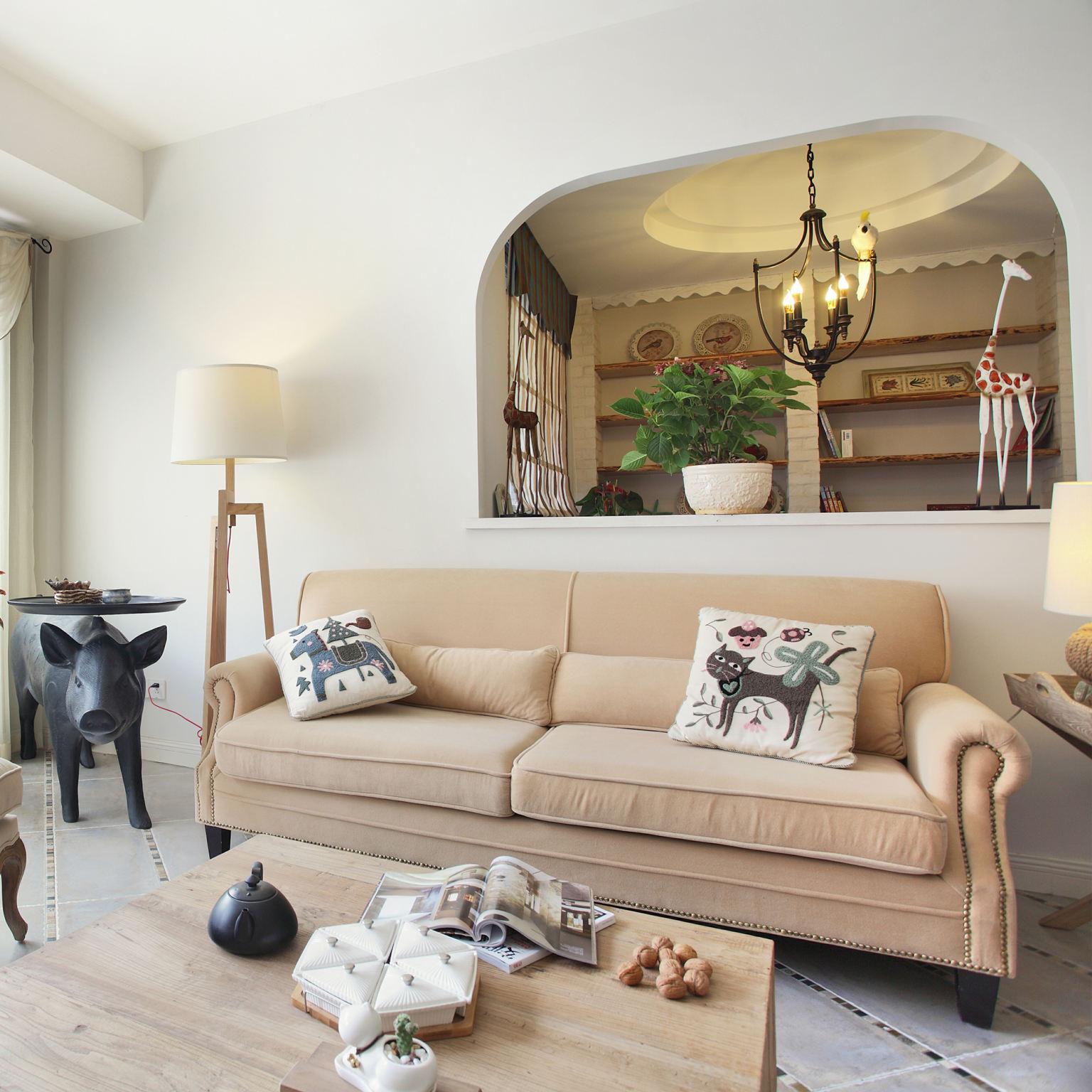 素雅文艺地中海 客厅隔断设计