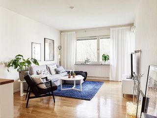 北欧小户型客厅地毯装饰图