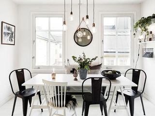 黑白时尚北欧餐厅装饰效果图