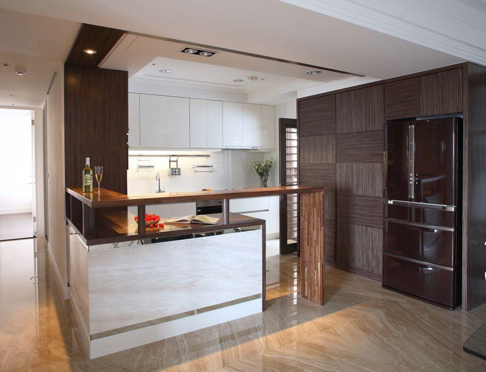 时尚现代厨房冰箱柜设计