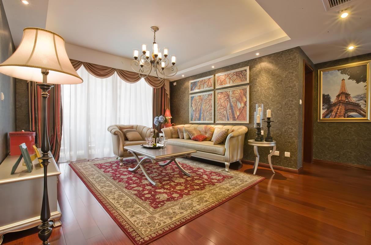 古典高雅混搭法式宫廷风客厅装饰效果图