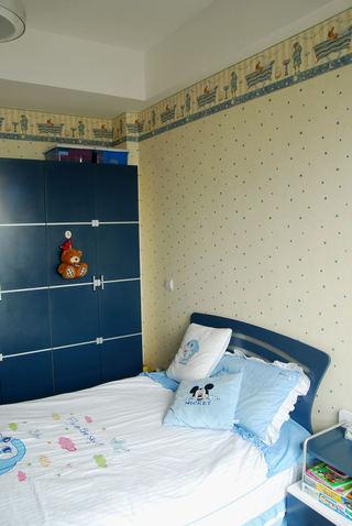 蓝色地中海风情儿童房效果图