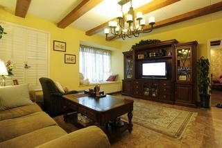 复古美式田园风 客厅电视柜设计