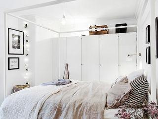 白色北欧风情卧室装潢图
