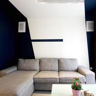 个性后现代混搭 客厅背景墙设计